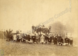 Harrogate: Jubilee bonfire on Prospect Stray, 1887